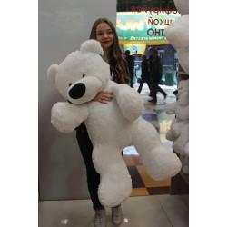 Большой мишка игрушка 110 см ( белый цвет)