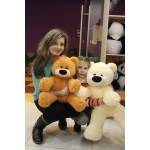 Игрушка большой медведь 80 см ( персиковый цвет)