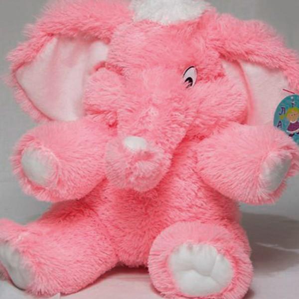 Розовый слоник игрушка 55 см