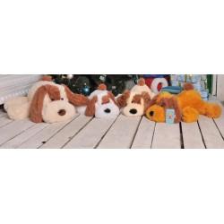 Мягкая игрушка собачка Шарик 55 см  (медовый цвет)