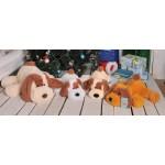 Мягкие большие собаки Шарик 110 см (медовый цвет)
