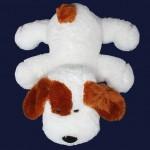 Мягкая игрушка собачка Шарик 55 см  (белый цвет)