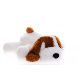 Мягкая игрушка собака Шарик 75 см (белый цвет)