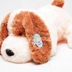 Мягкая игрушка собачка Шарик 55 см (персиковый цвет)