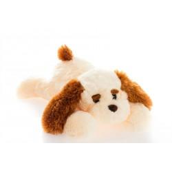 Плюшевая собака Тузик 65 см ( персиковый)