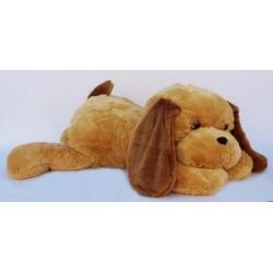 Большая мягкая собака 90 см (медовый цвет)