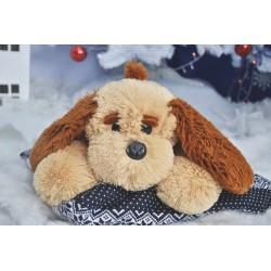 Плюшевая собачка 50 см (медовый цвет)