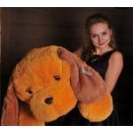 Игрушка большая собака 140 см (медовый цвет)