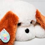 Плюшевая собака Тузик 65 см ( белый цвет)