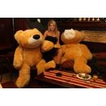 Медведь мягкий большой 180 см (медовый цвет)