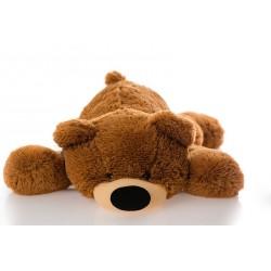 Плюшевый мягкий мишка 55 см (коричневый цвет)