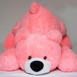 Плюшевый мягкий мишка 55 см (розовый цвет)