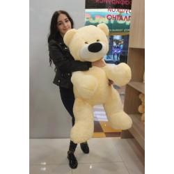 Большой плюшевый медведь 95 см (персиковый цвет)