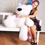 Большой мишка игрушка 120 см ( белый цвет)