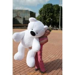 Плюшевый мишка 140 см ( белый цвет)