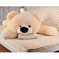 Медведь мягкий большой 180 см (персиковый цвет)