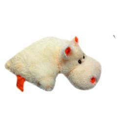 Подушка игрушка Бегемот купить 55 см (персиковый цвет)