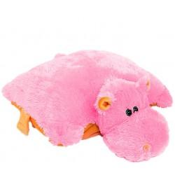 Подушка игрушка Бегемот купить 55 см (розовый цвет)