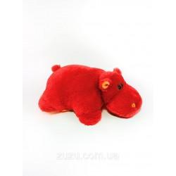 Подушка игрушка Бегемот купить 55 см (красный цвет)