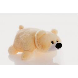 Подушка игрушка Мишка купить 45 см (персиковый цвет)